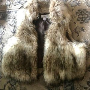 Anne Taylor Loft Faux Fur Vest